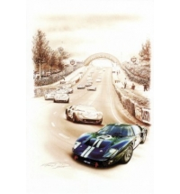 Ford MkII #2 Winner Le Mans 1966 (30x40cm)